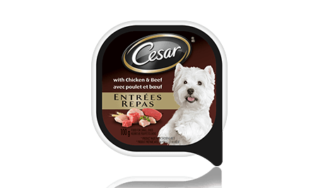 CESAR® ENTRÉES: WITH CHICKEN AND BEEF 100g