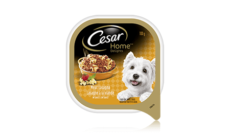 CESAR® HOME DELIGHTS® MEAT LASAGNA IN SAUCE 100g