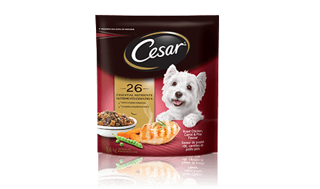 CESAR® Roast Chicken, Carrot and Pea Flavour Food For Small Dogs