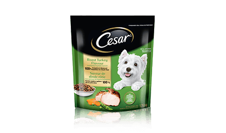 CESAR® Roast Turkey Flavour and Spring Vegetable Garnish