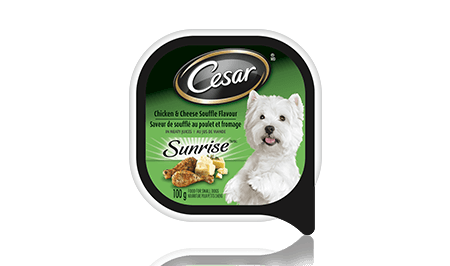 CESAR® SUNRISE™ CHICKEN & CHEESE SOUFFLE FLAVOUR IN MEATY JUICES 100g