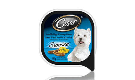 CESAR® SUNRISE™ SCRAMBLED EGGS & SAUSAGE FLAVOUR IN MEATY JUICES 100g