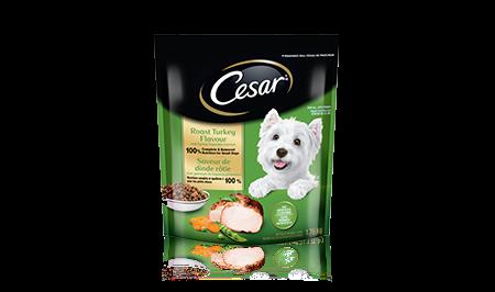 Nourriture sèche CESAR MD saveur de dinde rôtie avec garniture de légumes printaniers