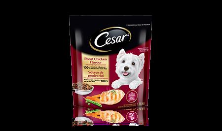 Nourriture sèche CESAR MD saveur de poulet rôti avec garniture de légumes printaniers