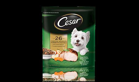 Nourriture sèche pour petits chiens CESAR MD saveur de dinde rôtie, pommes et carottes