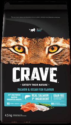 CRAVE™ SALMON & OCEAN FISH FLAVOUR 4.54KG
