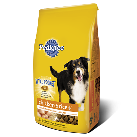 PEDIGREE CHICKEN & RICE + ™Food for Adult Dogs