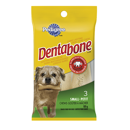 PEDIGREE® DENTABONE® Long-lasting Oral Care Chew for Small Adult Dogs