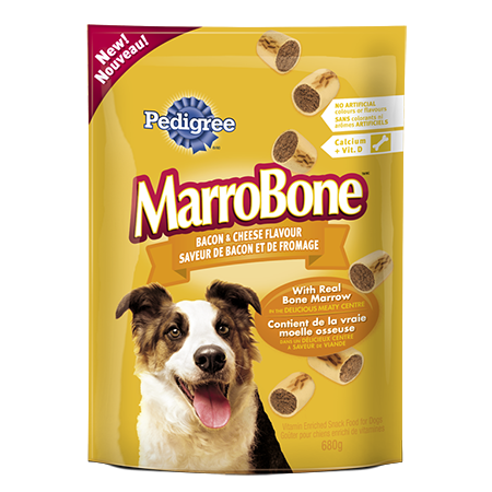 PEDIGREE MARROBONE® Vitamin Enriched Treats for Adult Dogs in Bacon & Cheese Flavour