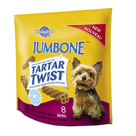 PEDIGREE® JUMBONE® TARTAR TWIST™ Snacks for Small & Medium Dogs