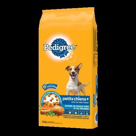 Nourriture sèche pour chiens adultes PEDIGREE PETITS CHIENS+MC saveur de poulet