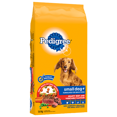 PEDIGREE SMALL DOG+™ Hearty Beef and Vegetable Flavour 1.6kg