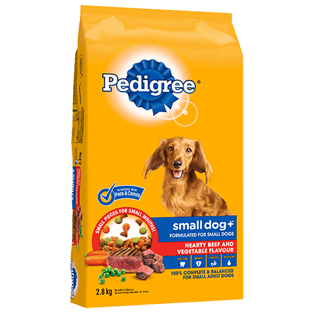 PEDIGREE SMALL DOG+™ Hearty Beef and Vegetable Flavour 2.8kg