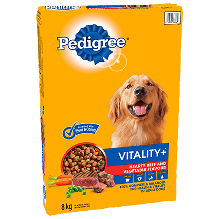 PEDIGREE VITALITY+™ Hearty Beef and Vegetable Flavour 8kg