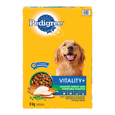 PEDIGREE VITALITY+™ Roasted Turkey and Vegetable Flavour 8kg