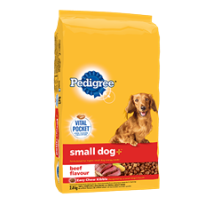 PEDIGREE SMALL DOG+ ™ Food for Adult Dogs in Beef Flavour