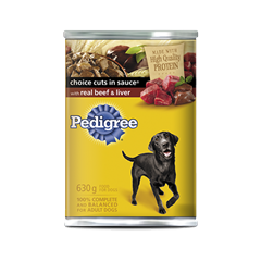PEDIGREE® CHOICE CUTS® with Real Beef & Liver