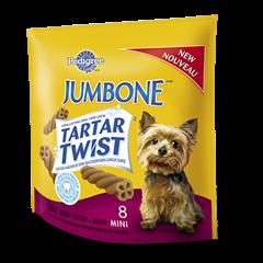 PEDIGREE® JUMBONE® TARTAR TWIST™ Snacks for Small & Medium Dogs