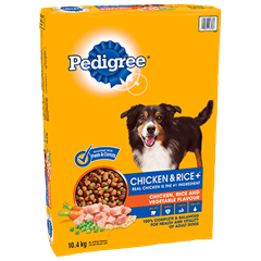 PEDIGREE® CHICKEN & RICE+™ Roasted Chicken, Rice and Vegetable Flavour 10.4kg