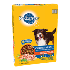 PEDIGREE CHICKEN & RICE+™ Chicken, Rice and Vegetable Flavour 5.4kg