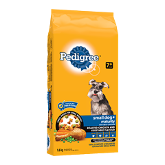 PEDIGREE SMALL DOG+™ Food for Mature Dogs in Roasted Chicken and Vegetable Flavour 1.6kg