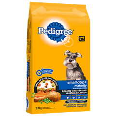 PEDIGREE SMALL DOG+™ Food for Mature Dogs in Roasted Chicken and Vegetable Flavour 2.8kg
