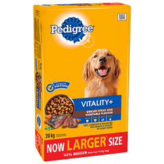 PEDIGREE VITALITY+™ Grilled Steak and Vegetable Flavour 20kg