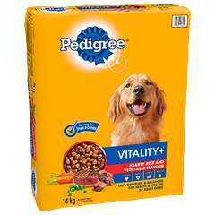 PEDIGREE VITALITY+™ Hearty Beef and Vegetable Flavour 14kg