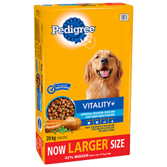 PEDIGREE® VITALITY+™ Original Roasted Chicken and Vegetable Flavour 20kg