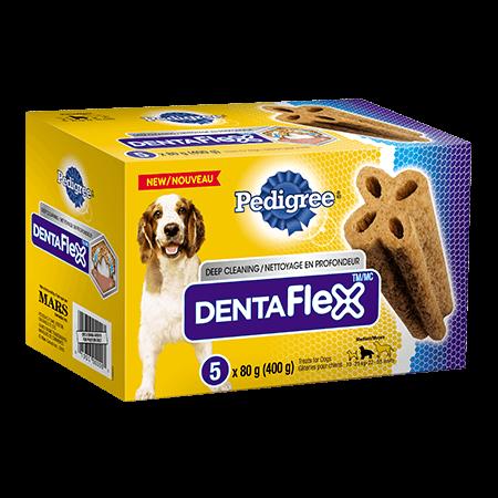 Gâterie de soins buccodentaires PEDIGREE<sup>MD</sup> DENTAFLEX<sup>MC</sup> pour chiens moyens 6unités