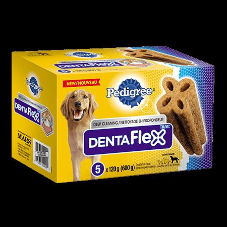 Gâterie de soins buccodentaires PEDIGREE<sup>MD</sup> DENTAFLEX<sup>MC</sup> pour grands chiens 6unités
