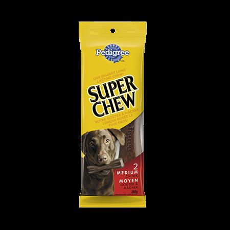 Goûter à mâcher longue durée PEDIGREE<sup>MD</sup> Super Chew  pour chiens moyens