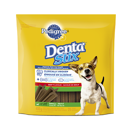 Goûter de soins buccodentaires quotidiens PEDIGREE<sup>MD</sup> DENTASTIX<sup>MD</sup>  pour petits chiens saveur de bœuf