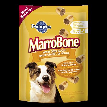 Goûter enrichi de vitamines PEDIGREE  MARROBONE<sup>MD</sup> pour chiens adultes saveur de bacon et de fromage