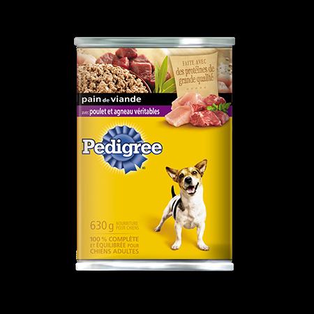 Nourriture humide pour chiens PEDIGREE<sup>MD</sup> Pain de viande avec poulet véritable