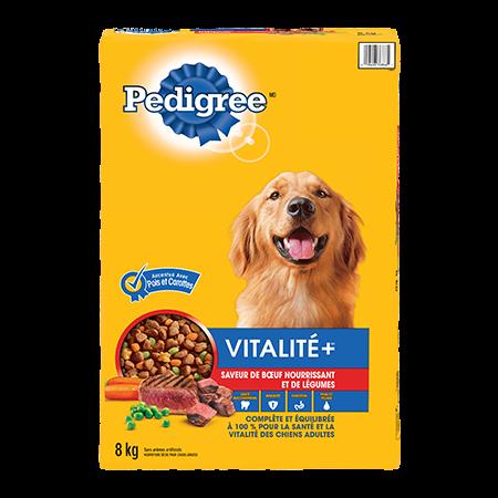 Nourriture sèche pour chiens adultes PEDIGREE VITALITÉ+<sup>MC</sup> saveur de bœuf