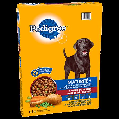 PEDIGREE® MATURITE+<sup>MC</sup>   saveur de poulet rôti et de légumes 5.4kg