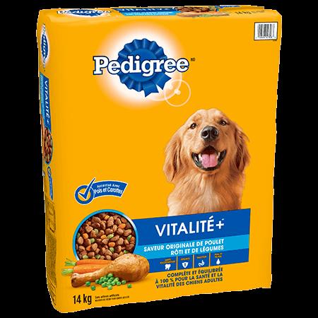 PEDIGREE® VITALITE+<sup>MC</sup>  saveur originale de poulet rôti et de légumes 14kg