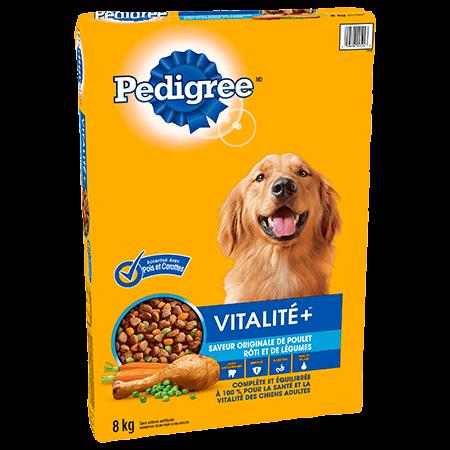 PEDIGREE® VITALITE+<sup>MC</sup>  saveur originale de poulet rôti et de légumes 8kg