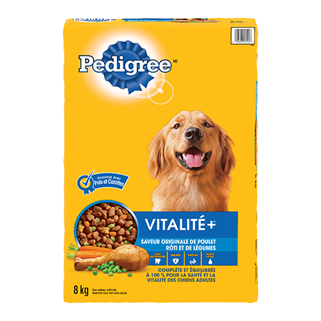 PEDIGREE® Vitalité+ saveur originale de poulet rôti et de légumes 8kg