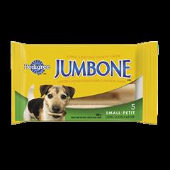 Goûter à mâcher longue durée PEDIGREE<sup>MD</sup> JUMBONE<sup>MD</sup> pour petits chiens et chiens moyens en emballage de 5