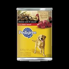 Nourriture humide pour chiens PEDIGREE<sup>MD</sup> COUPES DE CHOIX EN  SAUCE<sup>MD</sup> avec bœuf véritable
