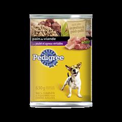 Nourriture humide pour chiens PEDIGREE<sup>MD</sup> Pain de viande avec poulet et agneau véritables