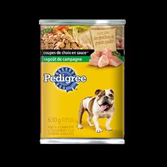 Nourriture humide pour chiens PEDIGREE<sup>MD</sup> COUPES DE CHOIX EN  SAUCE<sup>MD</sup> ragoût de campagne