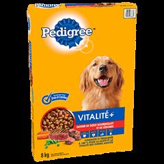 PEDIGREE® VITALITE+<sup>MC</sup> saveur de bœuf nourrissant et de légumes 8kg