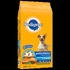 PEDIGREE® PETITS CHIENS+<sup>MC</sup>  saveur de poulet rôti et de légumes 1.6kg
