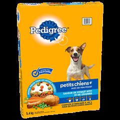 PEDIGREE® PETITS CHIENS+<sup>MC</sup>  saveur de poulet rôti et de légumes 5.4kg