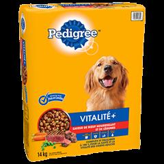 PEDIGREE® VITALITE+<sup>MC</sup>  saveur de bœuf nourrissant et de légumes 14kg