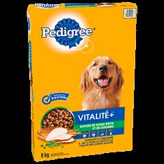 PEDIGREE® VITALITE+<sup>MC</sup>  saveur de dinde et de légumes 8kg