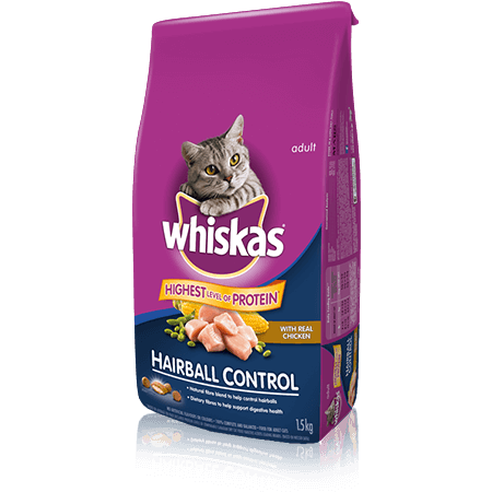 WHISKAS<sup>®</sup> Hairball Control with Chicken